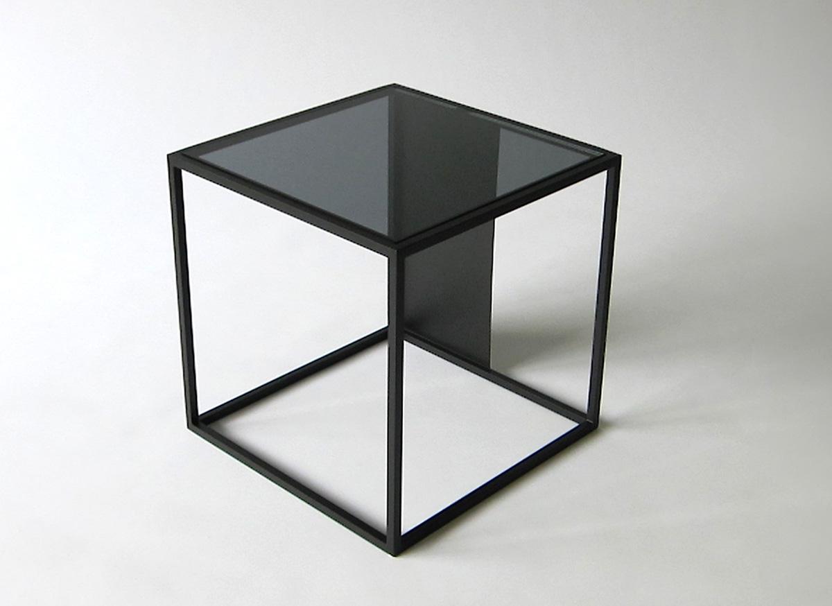half & half side table