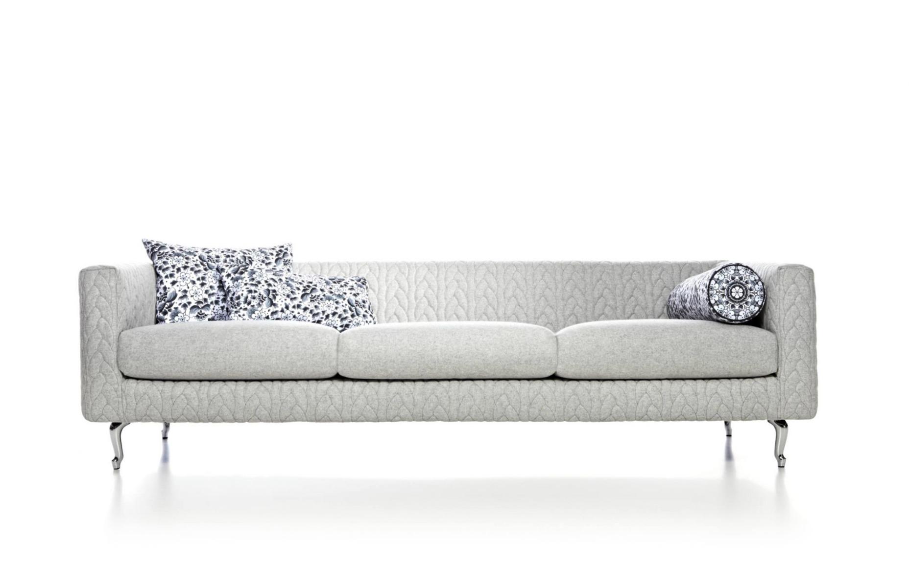 Boutique Delft Grey Triple Seater