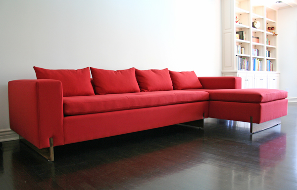 Primetime One Arm Sofa And Chaise Lounge