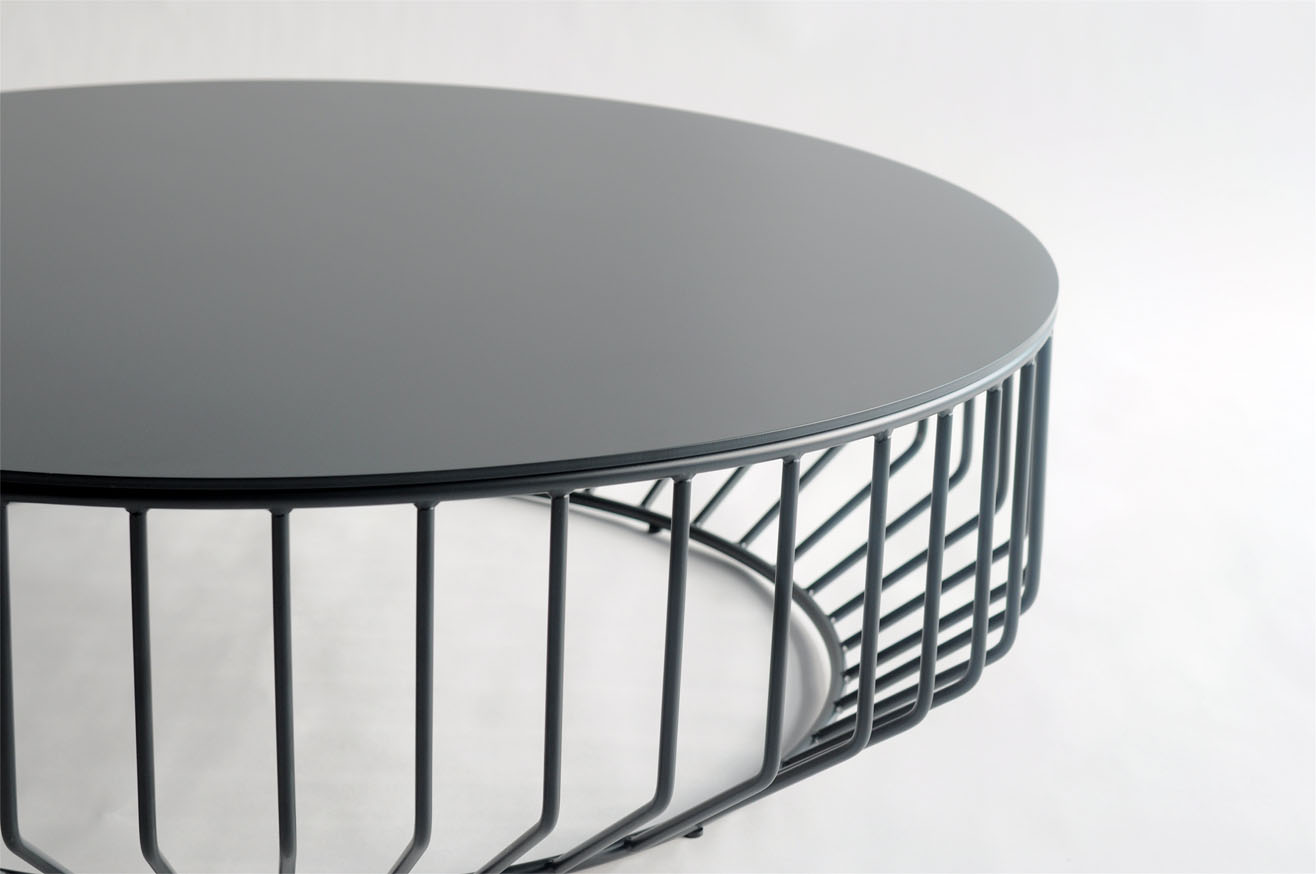 Wired Coffee Table Metal Top