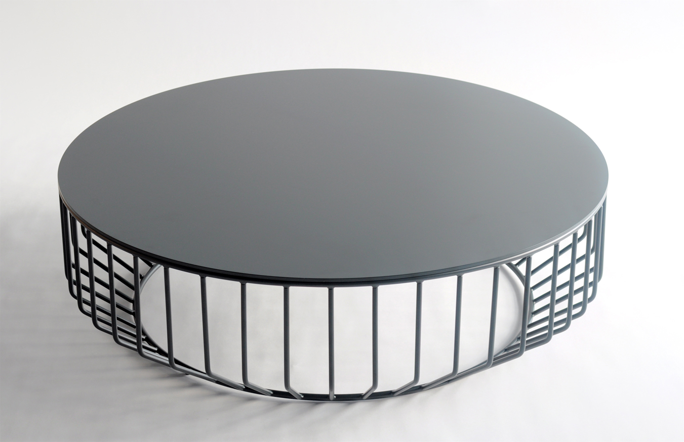 Merveilleux Wired Coffee Table   Steel Top