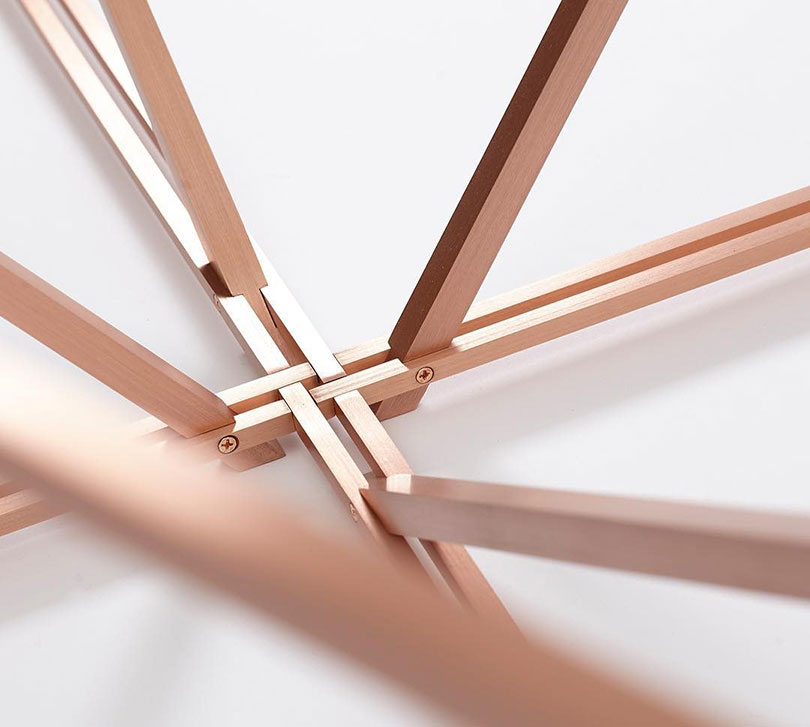 Detail of Tensegrity Table Base